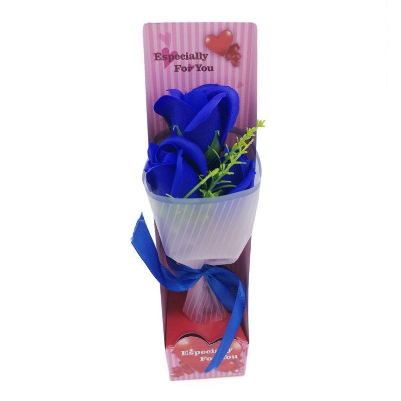 Букет мыльных роз (цвет синий)