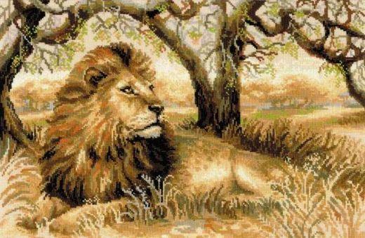 Набор для вышивания крестом Царь зверей №1261 фирма Риолис