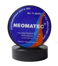 Изолента NEOMATEC 0.13 х19 мм х 25 м черная