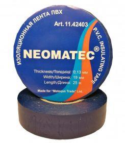 Изолента NEOMATEC 0.13 х19 мм х 25 м синяя