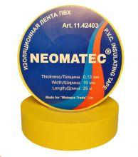 Изолента NEOMATEC 0.13 х19 мм х 25 м желтая