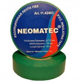 Изолента NEOMATEC 0.13 х19 мм х 25 м зеленая