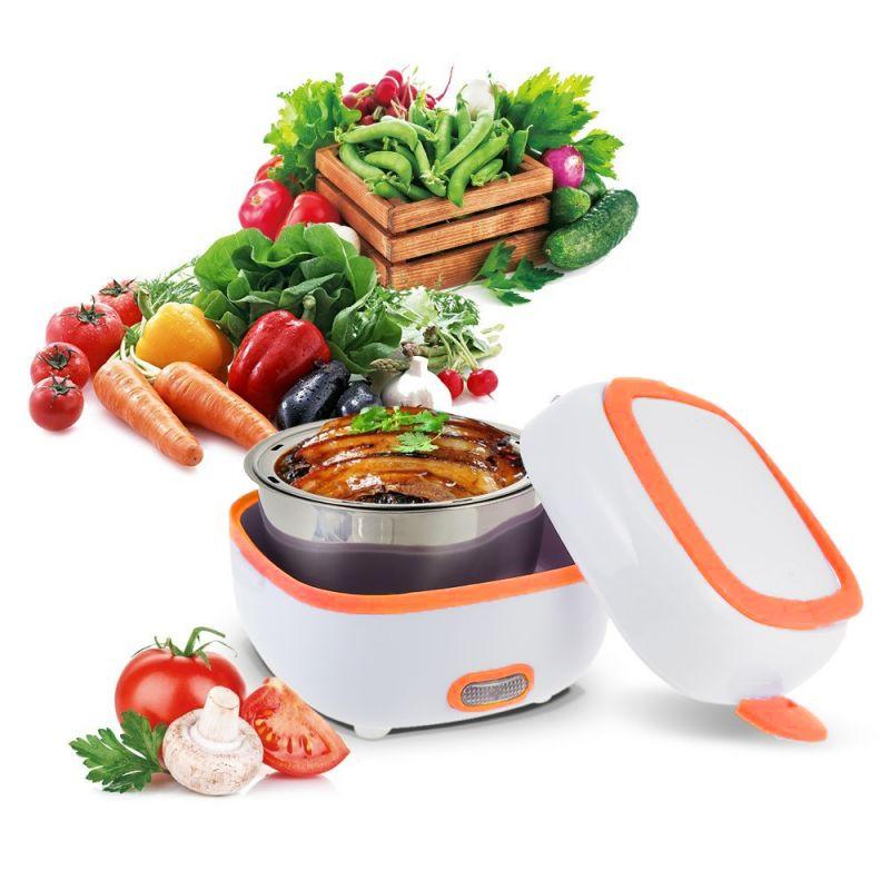 Контейнер Для Еды С Подогревом Electric Lunch Box (цвет оранжевый)