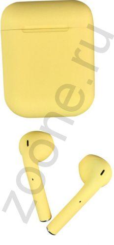 Bluetooth-гарнитура наушники TWS i12 желтые