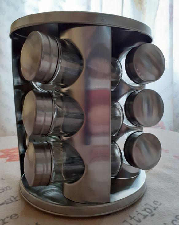 Подставка для специй + 12 баночек HM 1214