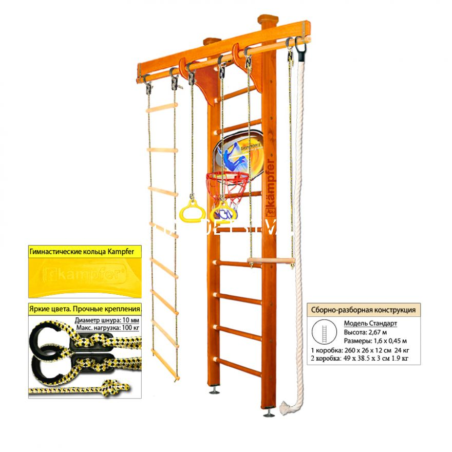 ДСК Kampfer Wooden Ladder Ceiling Basketball Shield