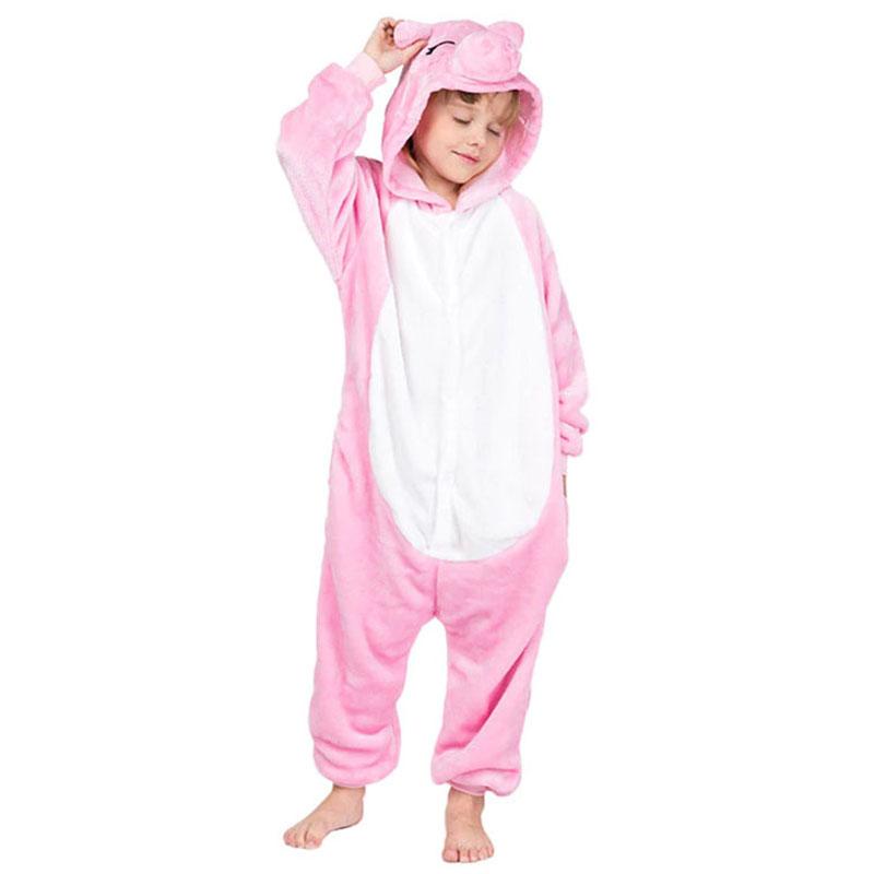Детская Пижама Кигуруми Розовая Свинка