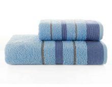 Комплект из 2-х махровых полотенец PINTUCK 50*90+70*140(голубой) Арт.3093-7