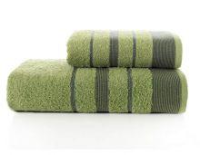 """Комплект из 2-х махровых полотенец """"KARNA"""" PINTUCK  50*90 + 70*140 (зеленый) Арт.3093-9"""