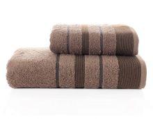 Комплект из 2-х махровых полотенец PINTUCK 50*90+70*140(коричневый) Арт.3093-10