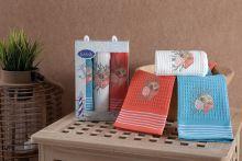 Комплект салфеток вафельных MIDLE (40*60)*3 Арт.3022-3