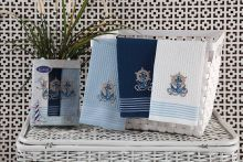 "Комплект салфеток  вафельных ""KARNA"" MARINE 40x60 - 3 шт.  Арт.3023-2"