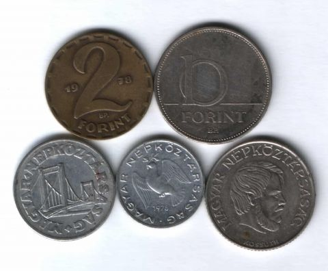 Набор монет Венгрия 1978-2004 г. 5 шт.
