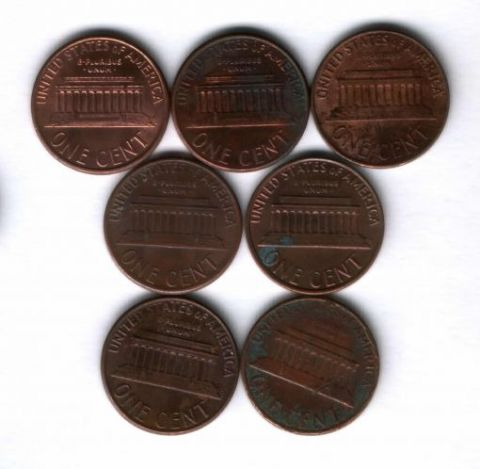 Набор монет США 1962-2001 г. 7 шт.