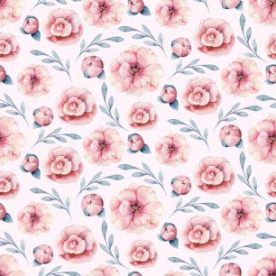 Лимитированная коллекция Арт-ткани Хлопок Сатин Цветочки