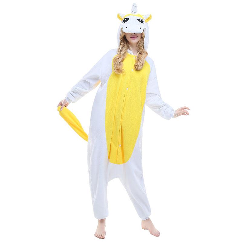 Пижама Кигуруми Единорог Желтый Премиум