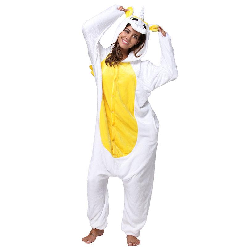 Пижама Кигуруми Единорог Желтый