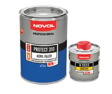 Грунт акриловый PROTECT 310 Novol черный 1л + 0,2