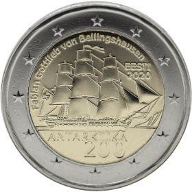 200 лет открытия Антарктиды 2 евро Эстония 2020