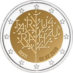 100 лет мирному договору с Россией 2 евро Эстония 2020