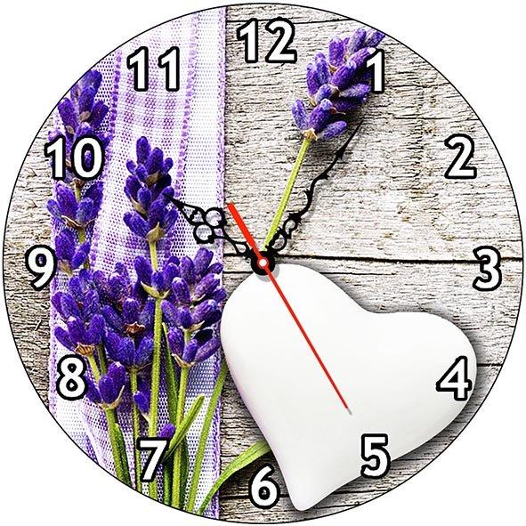 Часы деревянные ЛАВАНДА ПРОВАНС ЧС-02.21