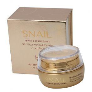 Увлажняющий крем для лица Bioaqua против морщин с муцином улитки Snail Repair & Brightening 50g