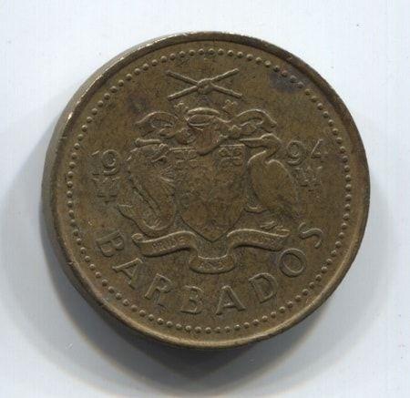 5 центов 1994 года Барбадос