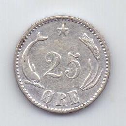 25 эре 1905 года XF Дания