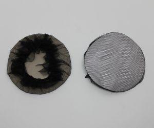 `Сеточка на пучок с оборкой, черная, Р-ПВ0068-2