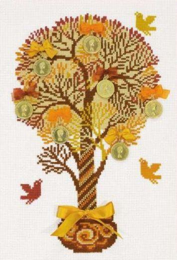 Набор для вышивания крестом Денежное дерево №1294 фирма Риолис