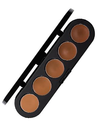Make-Up Atelier Paris Palette 5 Cream Concealers C/COR2 Корректор-антисерн восковой 5 цветная светлая кожа