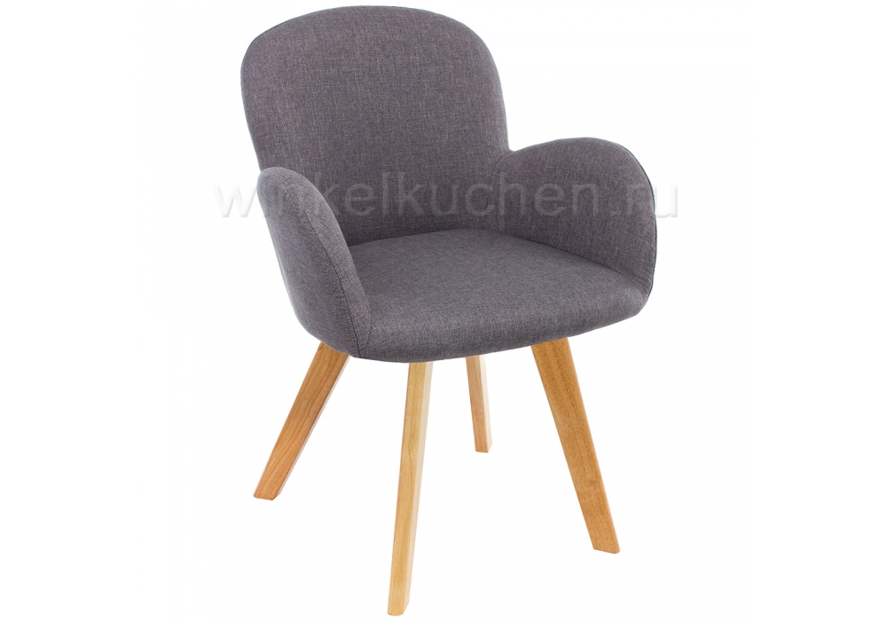 Стул Asia wooden legs / grey fabric