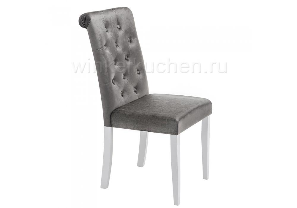 Стул деревянный Amelia white / fabric grey