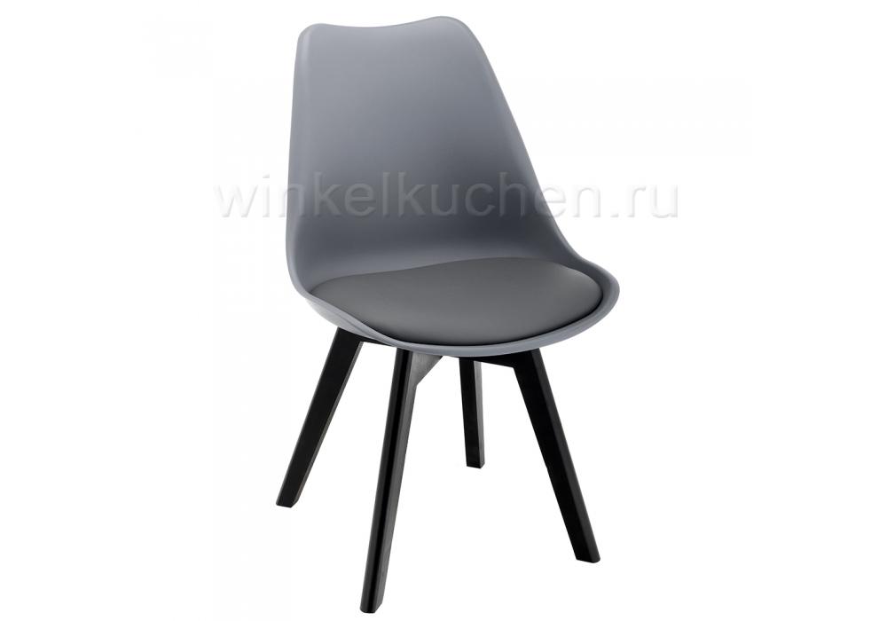 Стул деревянный Bonus черный / серый