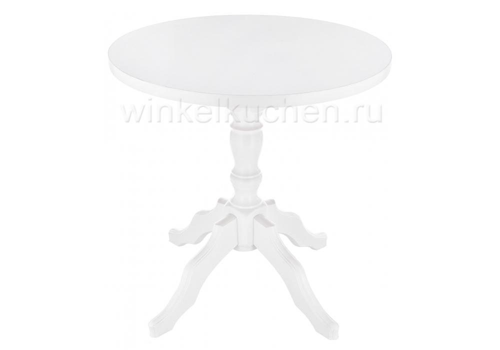 Стол деревянный Вилмар белый глянец
