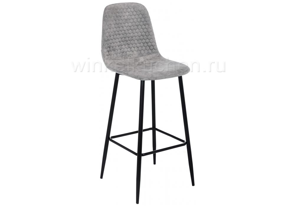 Барный стул Drop black / grey