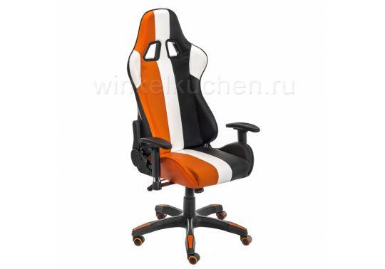 Стул line белое / оранжевое / черное