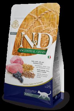 N&D Low Grain Cat Lamb & Blueberry Adult (ягненок+черника для взрослых кошек)