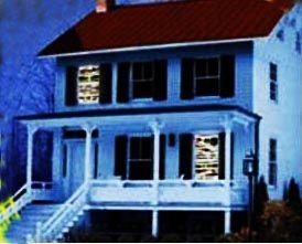 Декорация с эффектом свечения Зомби в окне (2 полотна)