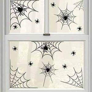 Наклейки-декорации на окно Паутина (14 предметов)