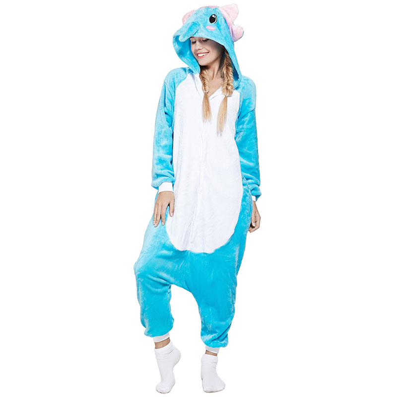 Пижама Кигуруми Слон Голубой