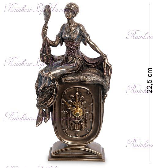 "Статуэтка - часы девушка с зеркалом ""Veronese"""