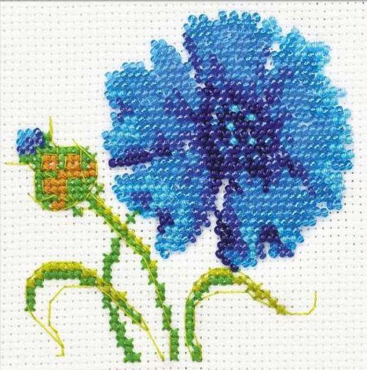 Набор для вышивания бисером Василек №1318 фирма Риолис
