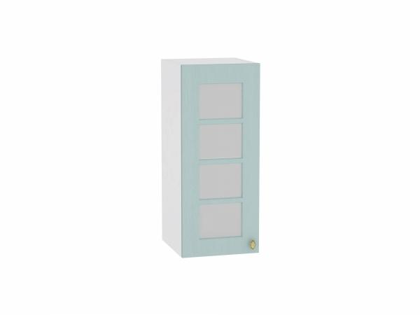 Шкаф верхний Прованс В309 со стеклом (голубой)
