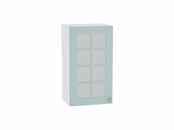 Шкаф верхний Прованс В409 со стеклом (голубой)
