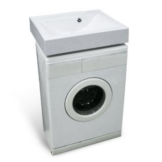 Раковина мраморная Эстет Комфорт над стиральной машиной  59х49,5