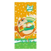 """Детское махровое полотенце """"Пончик. 44 котёнка"""" рис.1145-13 оранжевое"""