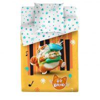 """Детское постельное белье """"Пончик"""", рис.4501-1+4501а-1 (44 котенка), 1.5сп."""