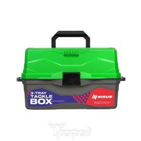 Ящик для снастей Tackle Box трехполочный NISUS зеленый (N-TB-3-G)