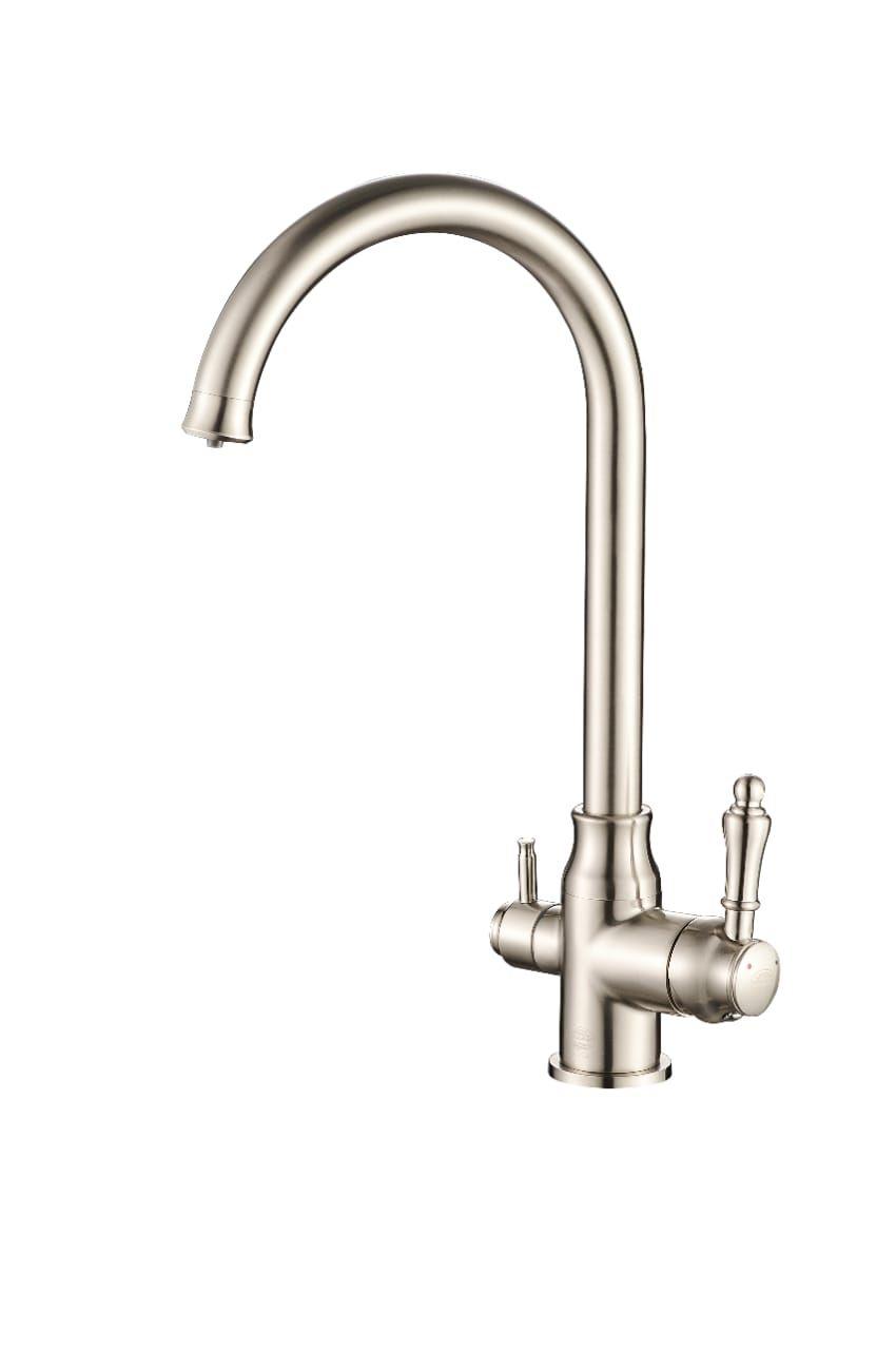 Смеситель для кухни с подключением фильтра Vaserzberg VS1763S (сатин)